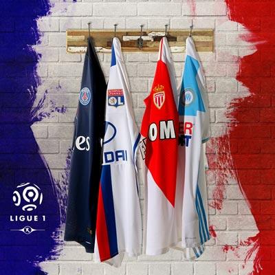 Equipaciones oficiales clubes Ligue 1