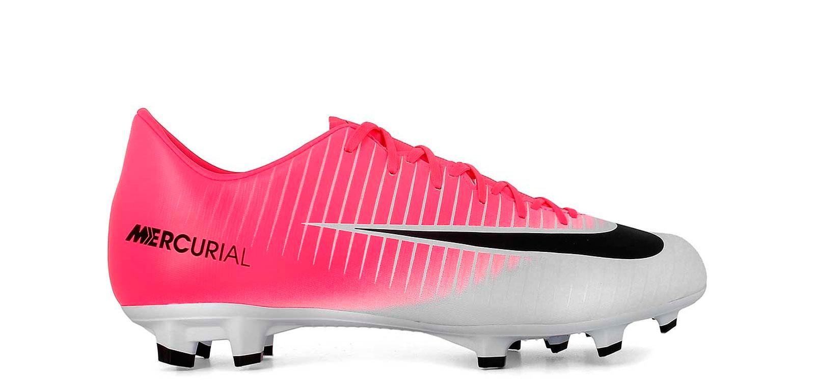 daffbb4d3 ... hot bota de fútbol para niño nike mercurial victory vi fg rosa blanco  pie c5985 de94f