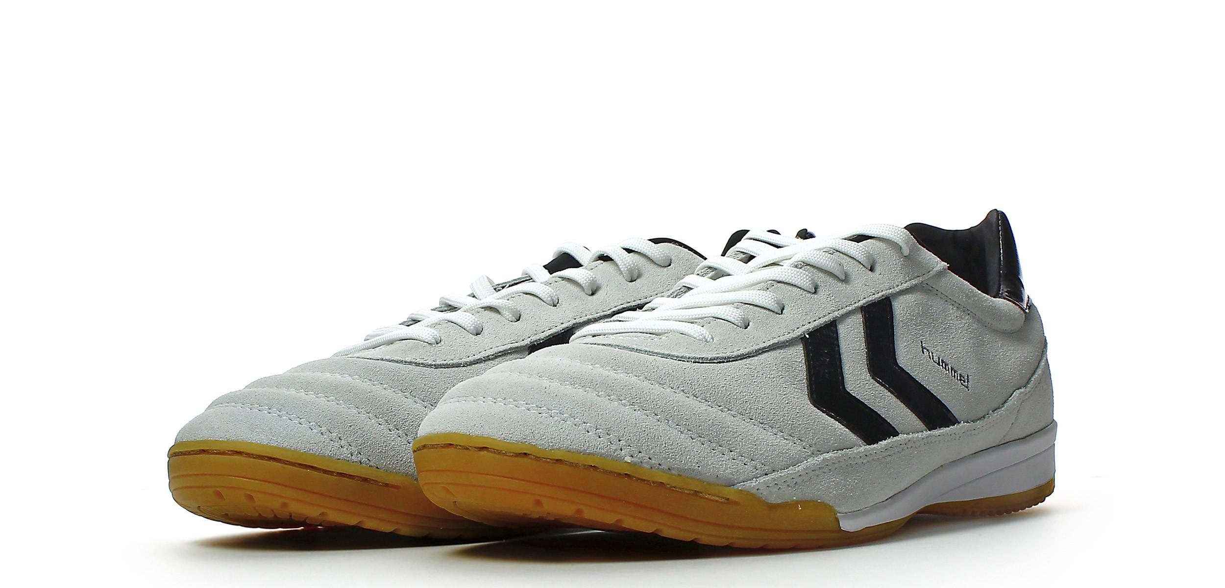 Zapatillas de fútbol sala Hummel Old School DK Futsal Suede - Gris - 613129124-Zapatillas de fútbol sala Hummel Old School DK Futsal Suede