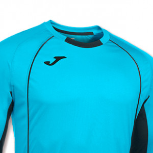 Camiseta de portero para niño de manga larga Joma Protec - Azul turquesa - detalle cuello