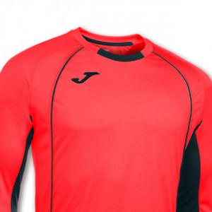 Camiseta de portero para niño de manga larga Joma Protec - Salmón - detalle escudo
