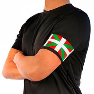 Brazalete de capitán Ikurriña - Rojo/Verde/Blanco - frontal modelo