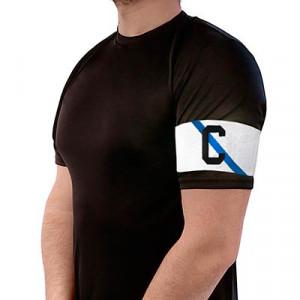 Brazalete de capitán Arquer de Galicia - Blanco/Azul - colocacion