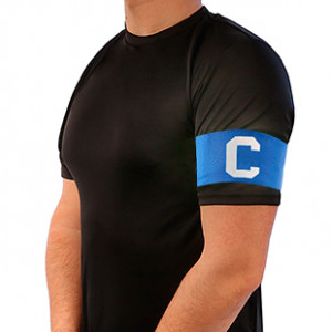Brazalete de capitán infantil 30 cm - Brazalete de capitán niño - azul