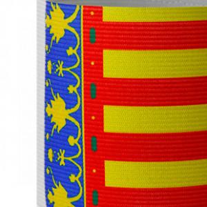 Brazalete de capitán junior Arquer de la Comunidad Valenciana - Amarillo/Rojo/Azul - detalle