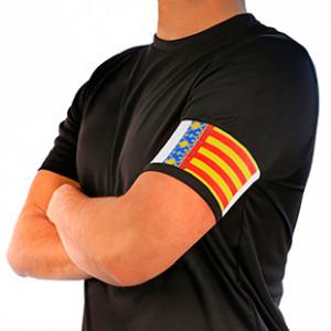 Brazalete de capitán Arquer de la Comunidad Valenciana - Amarillo/Rojo/Azul - frontal modelo