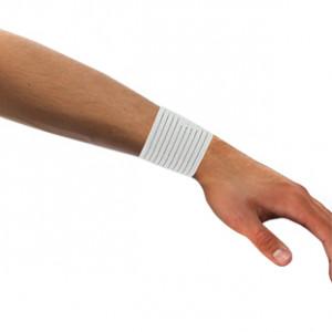 Muñequera elástica transpirable Arquer - Blanco - detalle