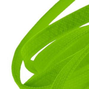 Cordones planos y finos Mr. Lacy Goalies - Verde - detalle