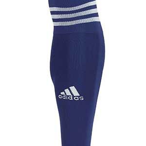 Medias sin pie adidas Team 18 - Medias de fútbol adidas Team 18 sin pie - Azul Marino - frontal