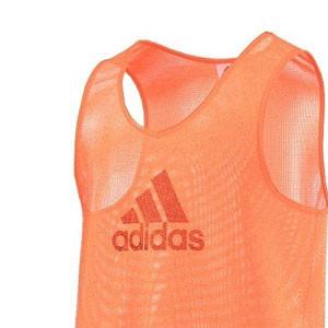 Peto entreno adidas - Peto de entrenamiento de fútbol adidas - Naranja - frontal