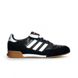 adidas Munidal Goal - Zapatillas de fútbol sala de piel de canguro adidas suela lisa - Negro - Exterior pie derecho