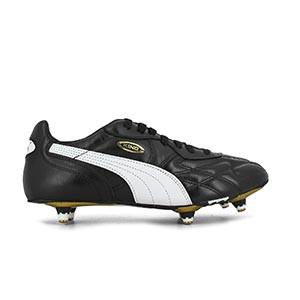 Puma King Pro SG - Botas de fútbol de piel Puma SG con tacos de aluminio para césped natural húmedo - Negro - pie derecho