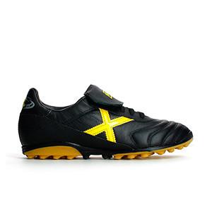 Munich Mundial T - Negro/Amarillo - pie derecho
