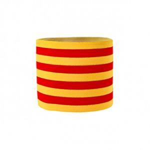 Brazalete de capitán Cataluña 36 cm - Brazalete de capitán Senyera - amarillo / rojo - frontal