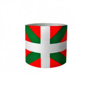 Brazalete de capitán infantil 30 cm - Brazalete de capitán niño País Vaco - rojo/verde - frontal
