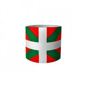 Brazalete de capitán junior Arquer de la bandera del País Vasco - Rojo/Verde/Blanco - frontal