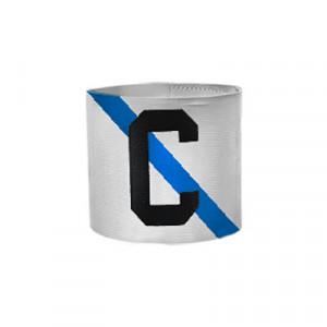 Brazalete de capitán infantil 30 cm - Brazalete de capitán niño Galicia - blanco/azul - frontal