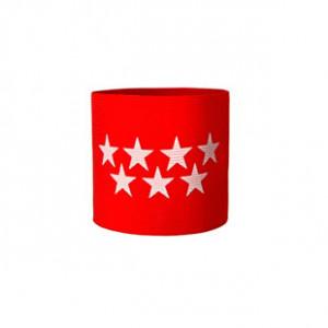 Brazalete de capitán 36 cm - Brazalete de capitán Comunidad de Madrid - rojo - frontal