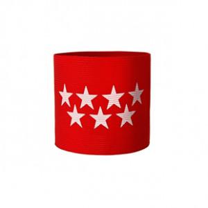 Brazalete de capitán de la Comunidad de Madrid Arquer - Rojo - frontal