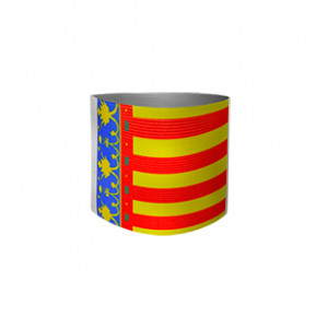 Brazalete de capitán junior Arquer de la Comunidad Valenciana - Amarillo/Rojo/Azul - frontal