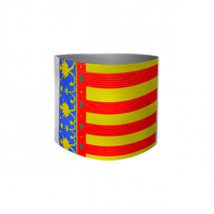 Brazalete de delegado 36 cm - Brazalete de delegado Comunidad Valenciana - rojo/amarillo - frontal