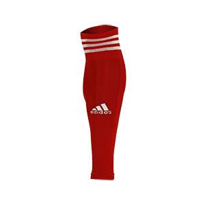 Medias sin pie adidas Team 18 - Medias de fútbol adidas Team 18 sin pie - Rojo - frontal