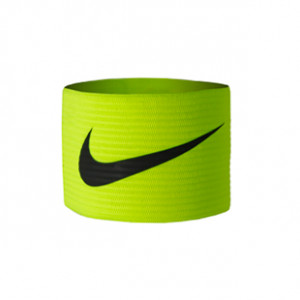 Brazalete de capitán 2.0 - Distintivo capitán equipo Nike - Amarillo flúor - frontal