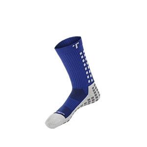 Calcetines antideslizantes Trusox - Calcetines Trusox de media caña acolchados con sistema antideslizante - Azul - frontal
