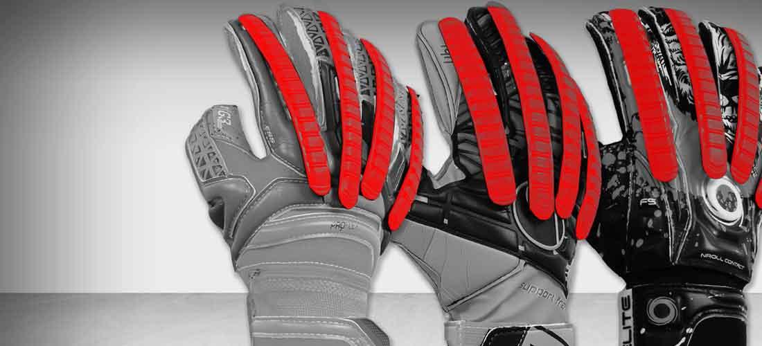 Guantes de portero de fútbol con protección en los dedos